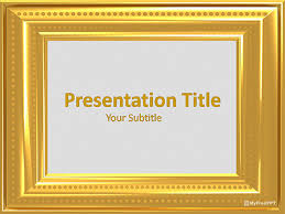 powerpoint design gold free golden border powerpoint templates myfreeppt com
