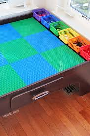 Legos Table Turn Your Train Table Into A Lego Table With Color Coded Storage