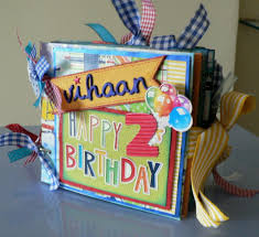 Handmade Photo Albums Juhi U0027s Handmade Cards Baby Boy Birthday Mini Album