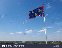 Flag Capital Fleurs De Lis Or Lilly Flag At Angers Once Capital Of Anjou In
