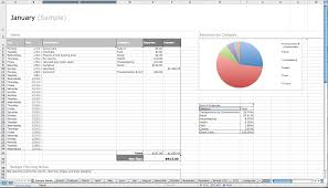 Personal Finance Spreadsheet Personal Monthly Expense Report Template