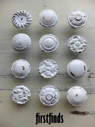Shabby Chic Hardware by Misfit 12 Shabby Chic Furniture Knobs White Vintage Drawer
