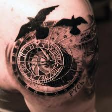clock compass tattoo designs u0026 ideas 2017 collection