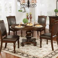54 inch round dining table furniture of america shayson traditional brown cherry 54 inch round
