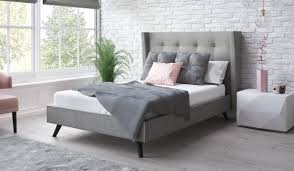 light grey upholstered bed rhapsody upholstered bed frame bensons for beds