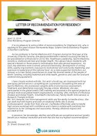 letter of recommendation residency sop example