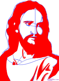 how to draw jesus christ step by step stars people free online
