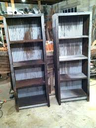 Iron And Wood Bookcase Leaning Wood And Metal Wall Shelving Unit Wood Metal Wall Shelving