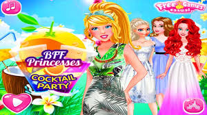 bff princesses cocktail party disney princess game for girls