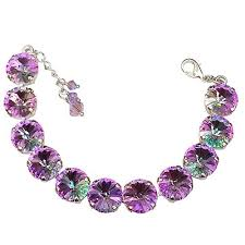 light purple necklace images Vitrail light round stone rivoli bracelet made with crystal from jpg