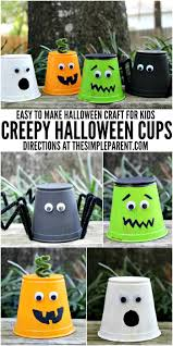 kids halloween craft projects creepy halloween cups