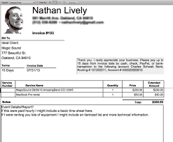 samples of invoices for services easy invoicing for sound engineers