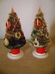 330 best vintage bottle brush trees wreathes images on