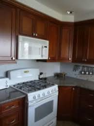 Cream Colored Kitchen Cabinets With White Appliances Cherry Cabinets White Appliances Have White Appliances With