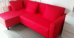 Red Ikea Corner Sofa Bed With Chaise Longue And Storage In - Chaise corner sofa bed