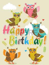 Happy Birthday Owl Meme - happy birthday card with funny animals vector illustration