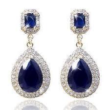 blue chandelier earrings gold chandelier earrings ebay