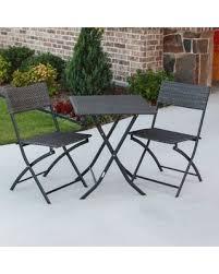 Resin Bistro Chairs Amazing Deal International Caravan Castillo 3 Piece Resin Steel