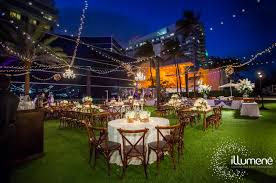 Restaurant String Lights by Fontainebleau Miami Beach Wedding Lighting
