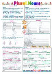 english exercises plural form