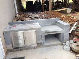 cinder block table home design ideas