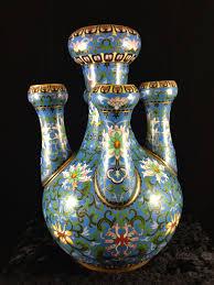 Enamel Vase Gannon U0027s Antiques Antique Chinese Signed Cloisonné Enamel Vase Rare