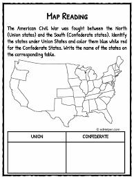 civil war worksheets 1 kidskonnect