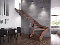 Contemporary Banisters And Handrails Contemporary Open Wooden Frame Staircases With Glass Railing By