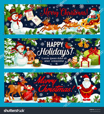 merry happy holidays greeting banners stock vector