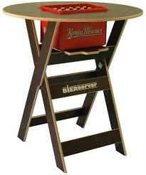 Joki Wohnzimmer Bar Stehtisch Bierserver Partytisch Mit Bierkasten Fach Klappbar