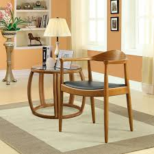 dining room chairs with leather seats lexmod hans wegner style elbow dining side chair with faux leather