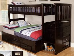 Wood Bunk Beds With Stairs Plans by White Bunk Beds With Stairs Full Over Full Bunk Beds With Stairs