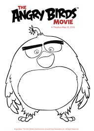 angry birds movie trailer coloring pages activity sheets