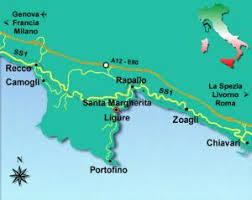 map of santa santa margherita ligure riviera map of riviera di levante