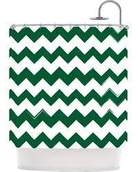 Green Chevron Shower Curtain Savings On Kess Original Green Chevron Shower Curtain