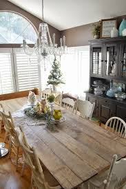 Dining Room Craft Room Combo - rustic farm table reveal