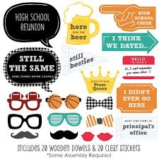 gifts for class reunions class reunion photo booth props kit 20 count walmart