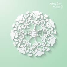 Snowflake Flower - circular openwork element snowflake flower folk paper style