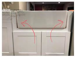 how to install farm sink in cabinet farmhouse sinks ikea kitchens seriously happy homes