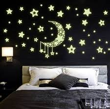 buy jaamso royals moon and stars glow in the dark wall sticker buy jaamso royals moon and stars glow in the dark wall sticker vinyl 32 cm x 24 cm x 0 5 cm online at low prices in india amazon in