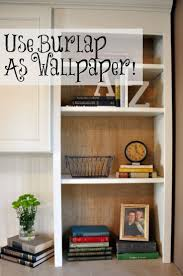 use burlap as wallpaper easy to install and remove diy home