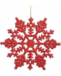 sweet deal on 12pcs plastic snowflake decorations 10cm