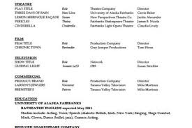 acting resume special skills examples awesome outstanding acting