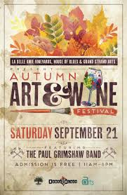 autumn art u0026 wine festival at house of blues grand strand arts
