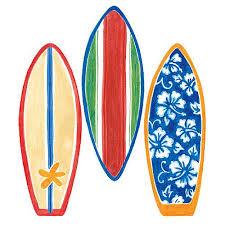 Surf Bathroom Decor Wallies 12193 Surfboard Wallpaper Cutout Wall Decor Stickers