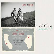 wedding cards usa destination wedding invitation two states two hearts one big