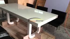 corian artificial stone solid surface dining table and chairs  YouTube