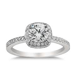 platinum halo engagement rings halo engagement ring in platinum blue nile