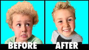 little boy haircut transformation youtube