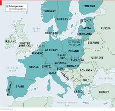 Borderless World Map by Germany Imposes Border Controls
